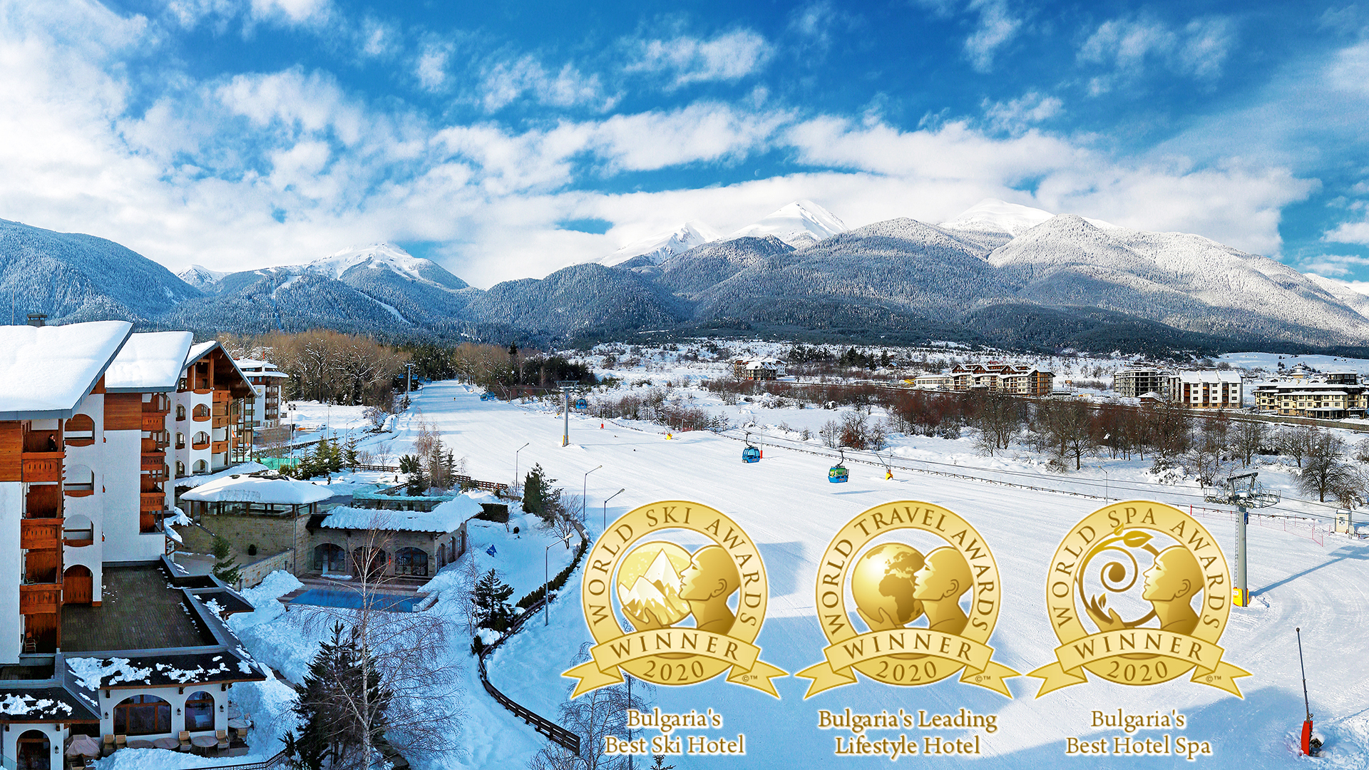Kempinski Hotel Grand Arena Bansko has won three prestigious awards for 2020